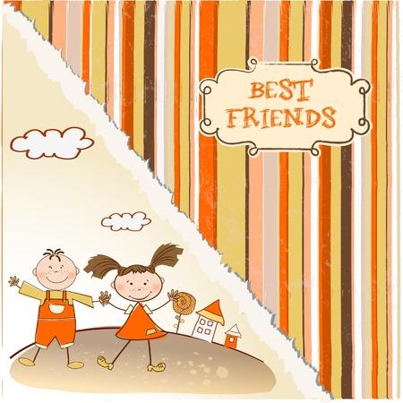 best friends Stock Vector - 9346535