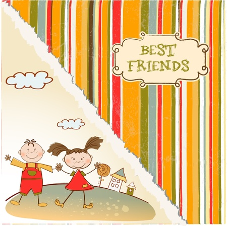 best friends  Stock Vector - 9346537