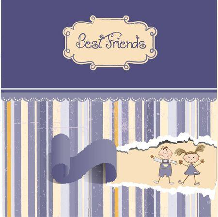 best friends  Stock Vector - 9346531