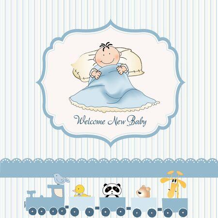 welcome new baby boy Stock Vector - 9346510