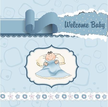 welcome new baby boy  Vector