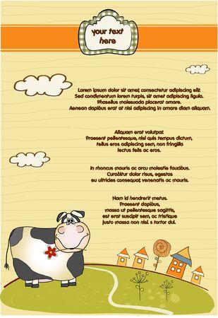 customizable: customizable fun background with cow