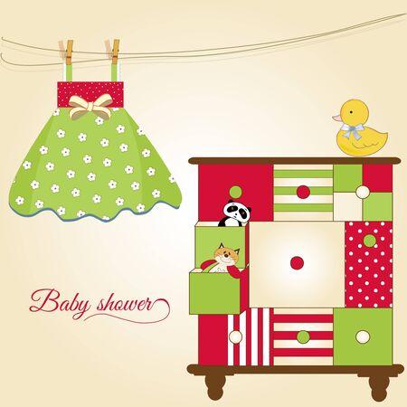 toy ducks: nueva tarjeta de felicitaci�n de beb� con nice cerrado