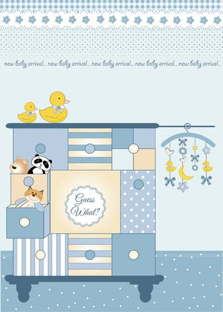 baby wardrobe: new baby greeting card with nice closed