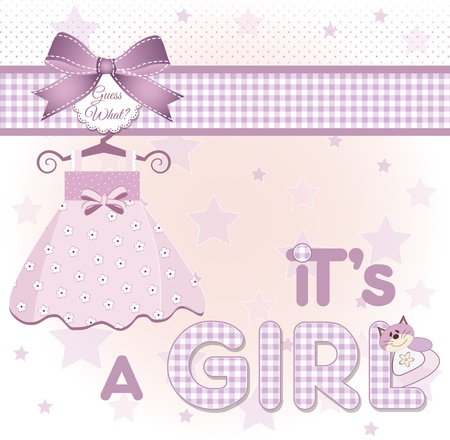 baby girl background: its a girl  Stock Photo
