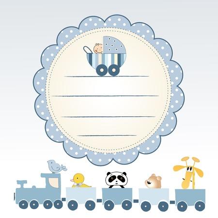 invitacion baby shower: tarjeta de presentaci�n de beb� delicado Foto de archivo