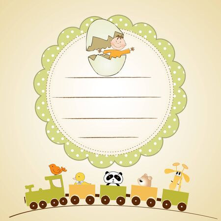 welcome baby card  Stock Photo - 9435454