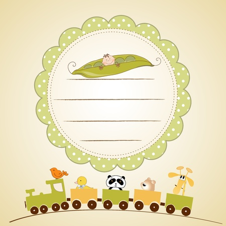 peas: welcome baby card