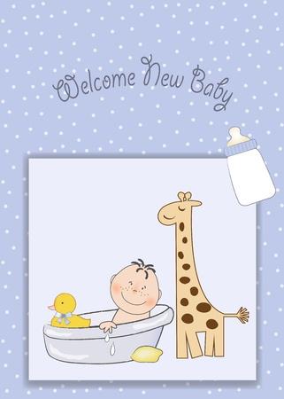 baby shower announcement Stock Vector - 9806309