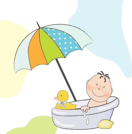 annonce de douche de bébé  Vecteurs
