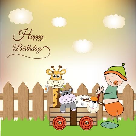 baby anniversary card  Vector