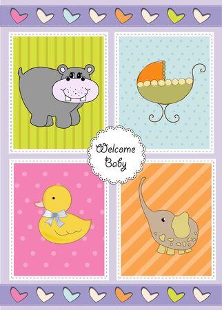 new baby shower invitation Stock Vector - 9806259