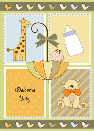 new baby shower invitation  Vector