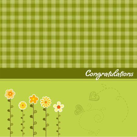 congratulation floral card  Vector