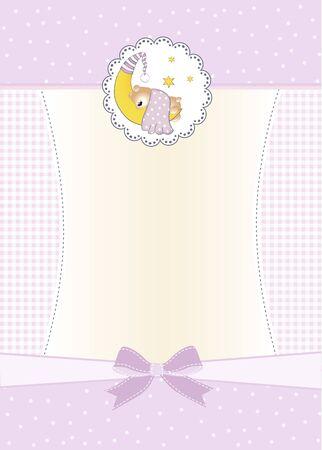 baby shower invitation Stock Vector - 9806298