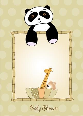 working animals: baby shower invitation