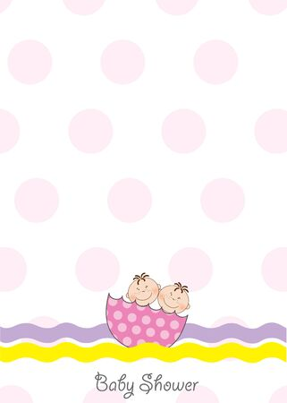 tvillingar: twins baby shower invitation