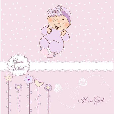 invitacion bebe: bienvenida, tarjeta de anuncio de beb�