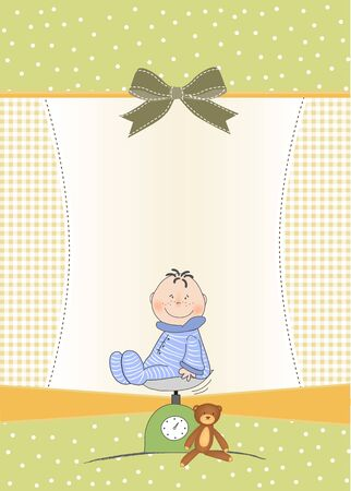 baby shower announcement Stock Vector - 9806293
