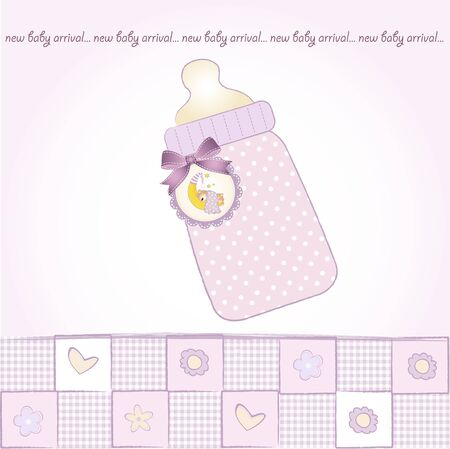new baby announcement card  Stock Vector - 9806302