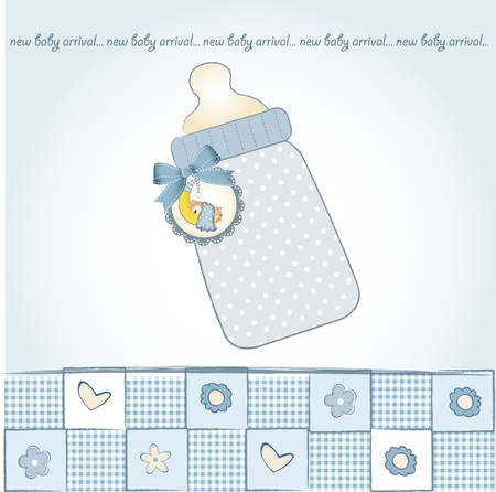specifically: new baby announcement card  Illustration