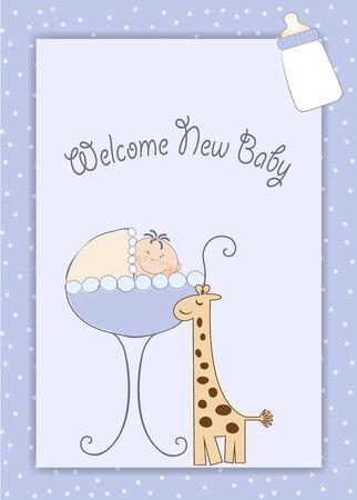 baby shower announcement Stock Vector - 9806319