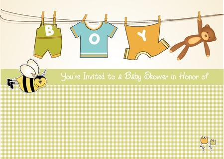 carte de bébé garçon douche annonce