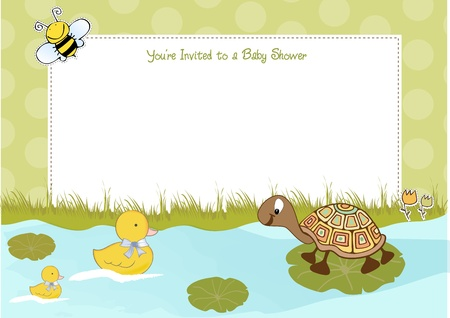 turtles love: baby shower announcement