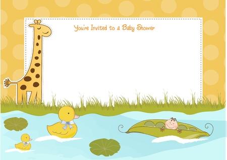 baby shower announcement  Stock Vector - 9806279