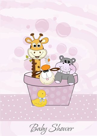animal baby shower  Vector
