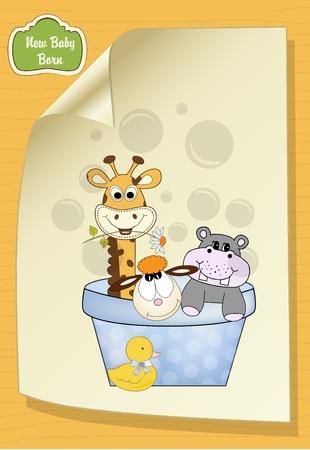 animal baby shower Stock Vector - 9806285