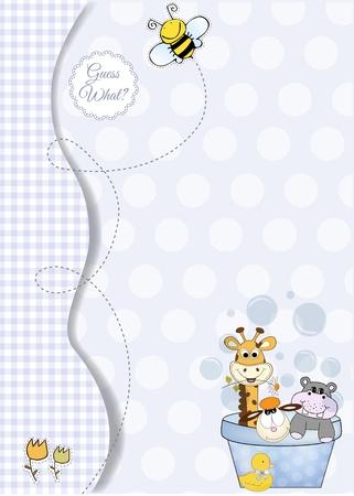 animal baby shower Stock Vector - 9806304
