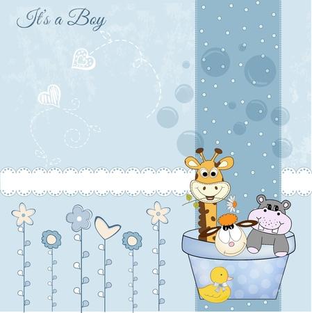 animal baby shower Stock Vector - 9806692