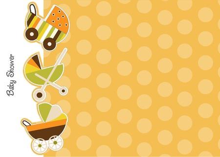 baby shower announcement Stock Vector - 9806370