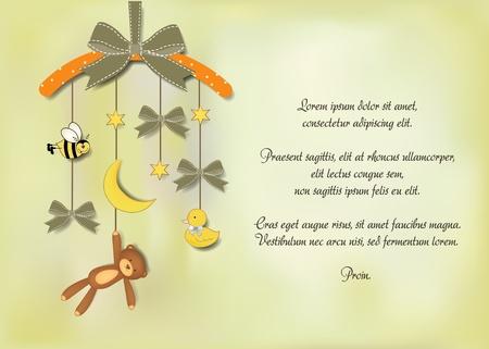 tarjeta de presentaci�n de beb�