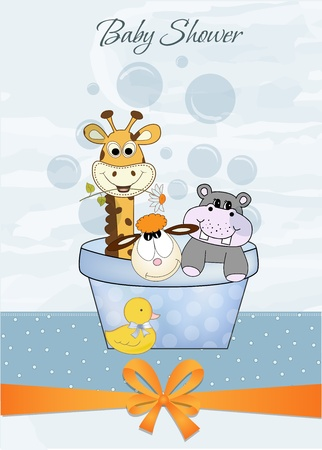 animal baby shower Stock Vector - 9806697