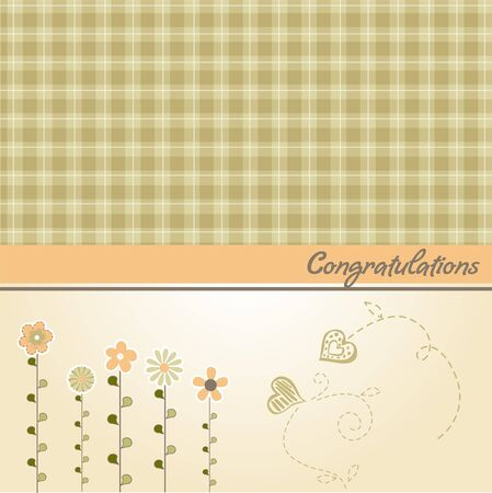 congratulation floral card  Stock Vector - 9806331