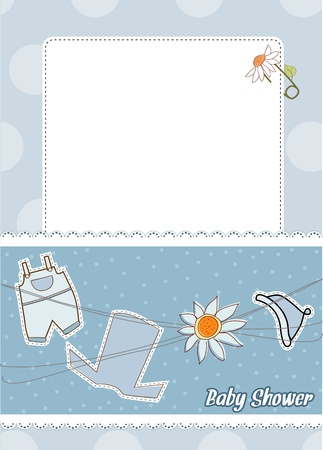 baby announcement card  Vector