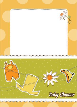 baby announcement card Stock Vector - 9806423