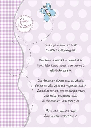 baby shower and announcement card Stock Vector - 9806545