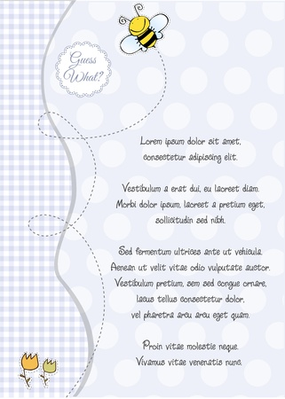 baby shower and announcement card Stock Vector - 9806547