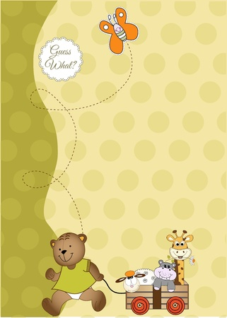 baby shower and announcement card Stock Vector - 9806398
