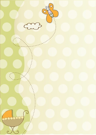baby shower and announcement card  Vector