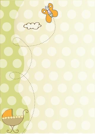 shower b�b�: carte de douche et annonce de b�b�  Illustration