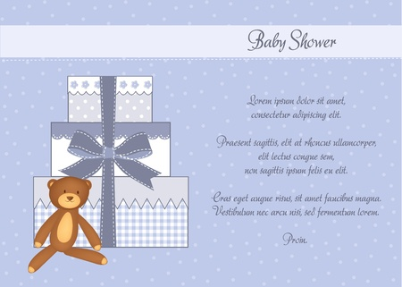 baby shower card with gifts Stock Vector - 9806728