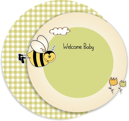 baby shower invitation Stock Vector - 9806753