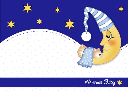 sweet dreams: welcome baby card