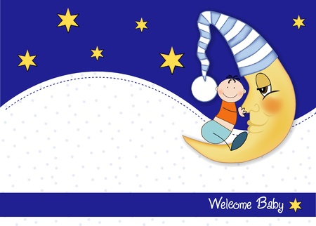 welcome baby card  Stock Vector - 9806738