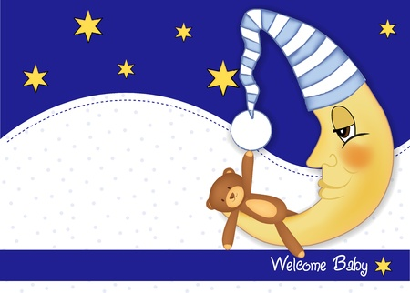 hanging toy: welcome baby card