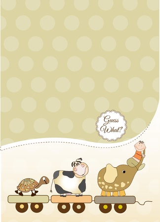 customizable baby card Stock Vector - 9806365